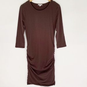 Standard James Perse 4 Brown Ruched Dress